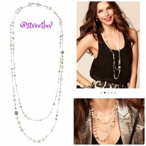 stella & dot ~ ivory madeline pearl necklace